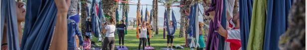 Yoga aéreo en Málaga